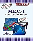 MEC1-Micro Economic Analysis (IGNOU help book for MEC-1 in English Medium)
