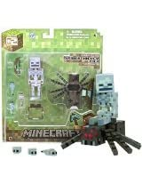 Overworld Spider Jockey Minecraft Mini Fully Articulated Action Figure Series 2