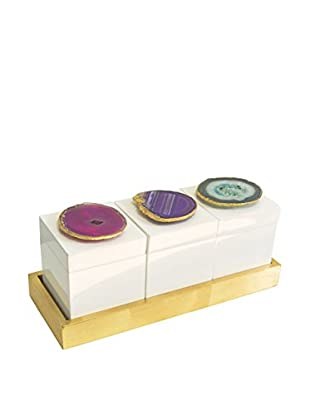 Couture Bel Air Set of 3 Boxes on Tray, Multi
