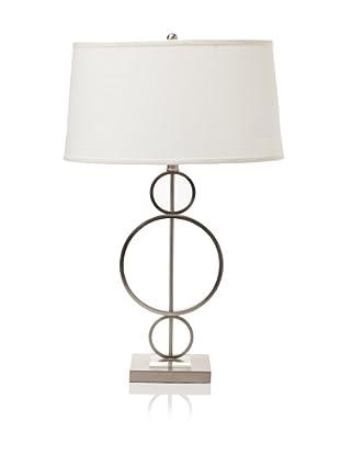 State Street Lighting Circle Metal Lamp (Satin Nickel)