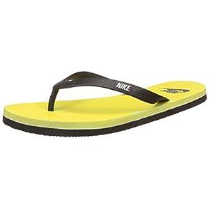 Nike Aquaswift Black & Yellow Thong Flip-Flops (UK 8)