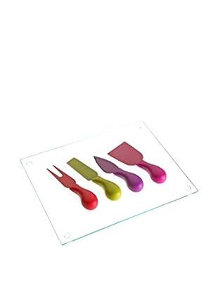 Zings Tabla Para Queso + Cuchillo 5 Piezas