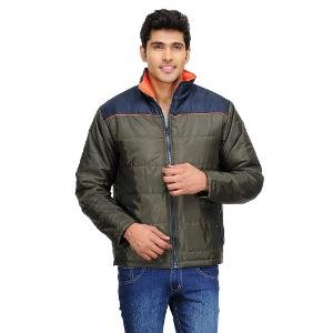 Yepme Men's Jacket - Deep Green & Navy Blue