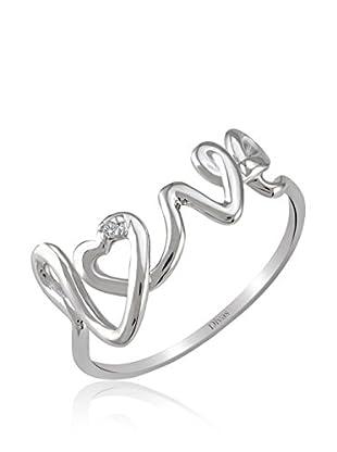 Divas Diamond Anillo Diamante Love (Plata)