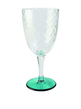 Textured Acrylic Goblet, Clear/Green