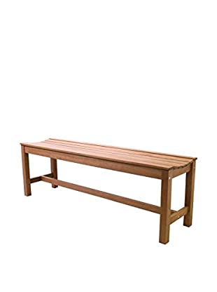 Outdoor Interiors Eucalyptus Backless Curved Bench, Brown