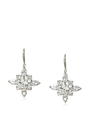 CZ by Kenneth Jay Lane Snowflake CZ Dangle Leverback Earrings