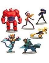 Big Hero 6 Figure Play Set - 6 Pcs Set Hiro Baymax Mech (Red) Go Go Honey Lemon Wasabi Fred