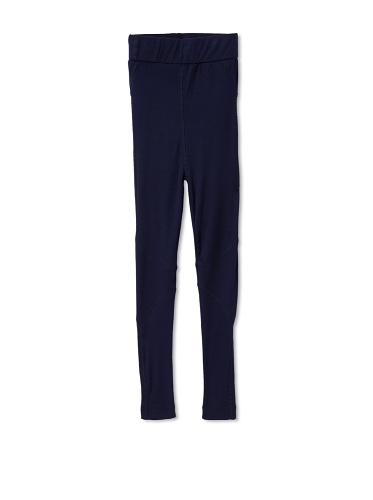 Tiny Pants Girl's Jersey Stitched Legging (Navy blue)