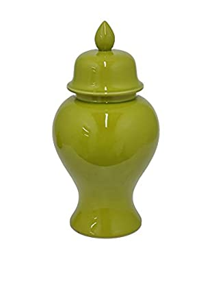 Three Hands Green Ceramic Temple Jar