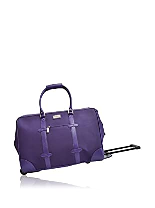 Adrienne Vittadini Deluxe Durable Rolling Duffle, Purple