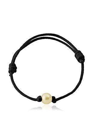 Compagnie générale des perles Braccialetto Nero/Bianco