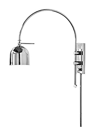 Home Philosophy Arc 1-Light Wall Sconce, Polished Nickel