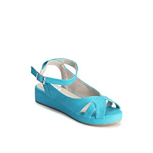 Trendy Aqua Blue Colored Sandals by Nell