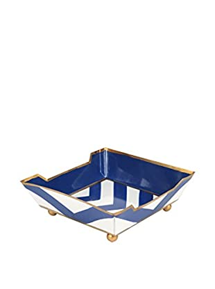 Jayes Chevron Cocktail Napkin Tray, Navy