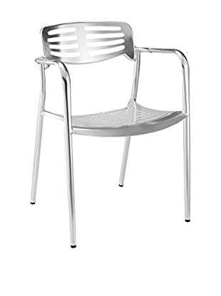Manhattan Living Aluminum Dining Chair, Silver