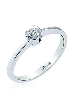 Divas Diamond Anillo 0,05 ct Rose Solitaire (Plata)