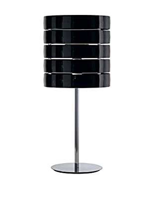 Caimi Tischlampe Ring schwarz/chrom