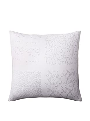 Shades of India Patchwork Euro Sham, White/Pearl