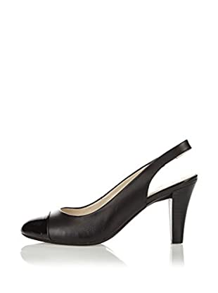 Lotus Zapatos de Talón Abierto Daisy (Negro)