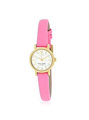 kate spade new york Women's 1YRU0367 Tiny Metro Pink/Mother of Pearl Stainless Steel Watch