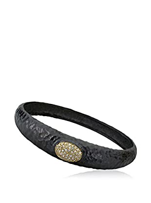 Riccova Harlequin Hammered Bangle Bracelet with CZs