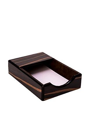 Bey-Berk Wood Memo Pad, Ebony/Black