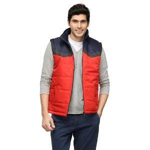 Yepme Men's Jacket - Navy Blue & Red