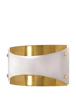 Nuvo Lighting 1-Light CFL Wall Fixture, Brushed Brass