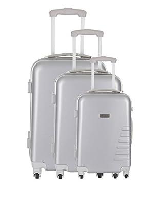 Travel ONE Set de 3 trolleys rígidos Batley Plata