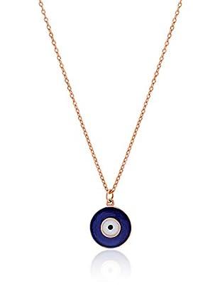 Divas Diamond Collar Gold Good Luck Eye Dorado / Azul