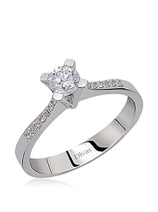 Divas Diamond Anillo 0,40 ct Gold Diamond Solitaire (Plateado)