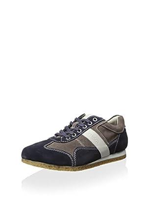 Geox Men's Uomo Para Sneaker (Navy/Forest)