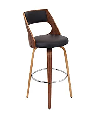 LumiSource Cecina Bar Stool, Walnut/Brown
