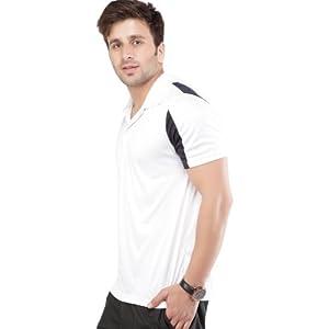 Puma White Half Sleeves Men - Collared T-shirt