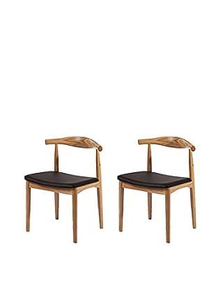 Manhattan Living Set of 2 Hansen Dining Chairs, Natural