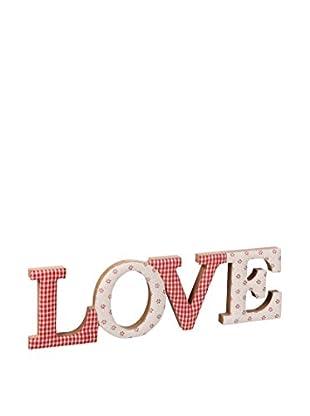 Romantic Style Decoración Pared Love Rojo / Blanco