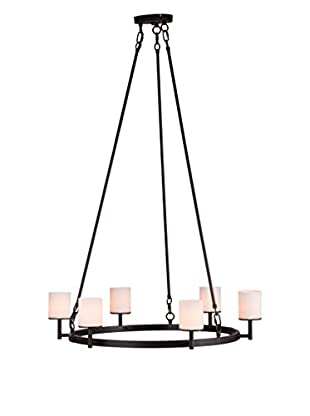 Zuo Gibbsite Ceiling Lamp, Rust/Black/Frosted White