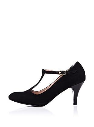 Ziya Zapatos Tira-T (Negro)