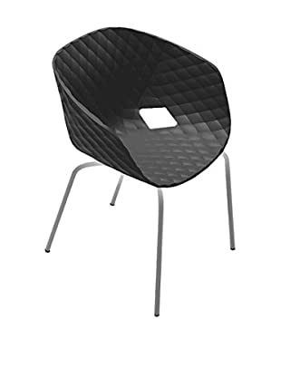 Metalmobil Stuhl 2er Set Poltroncine Unika-594 NERO