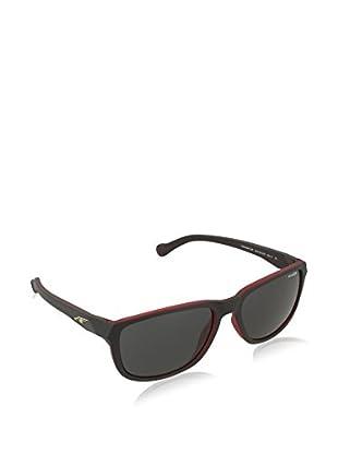 Arnette Gafas de Sol Straight Cut (58 mm) Negro / Naranja
