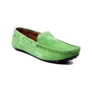 Peter Park Men's Green Loafers