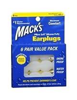 Mack's Pillow Soft Silicone Earplugs 6ea