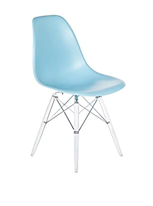Control Brand The Mid-Century Eiffel Dining Chair, Clear/Blue