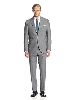 Lubiam Men's Stripe Notch Lapel Suit