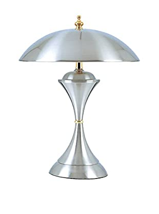 ORE International Metallic Touch Lamp, Steel