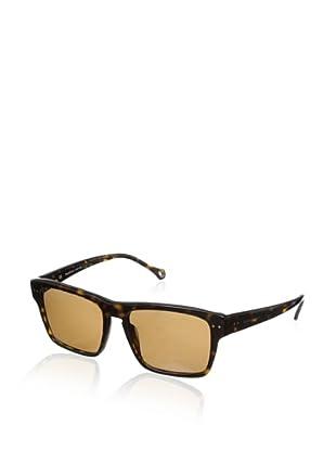Ermenegildo Zegna Men's SZ3599-722P Polarized Rectangular Sunglasses (Dark Havana)