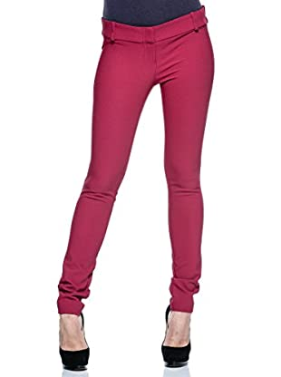 Annarita N Pantalón de Vestir Skinny/Aderente (Frambuesa)