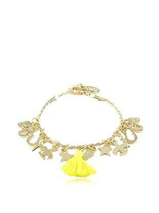 Ettika 18K Gold-Plated & Yellow Charmed Life Bracelet