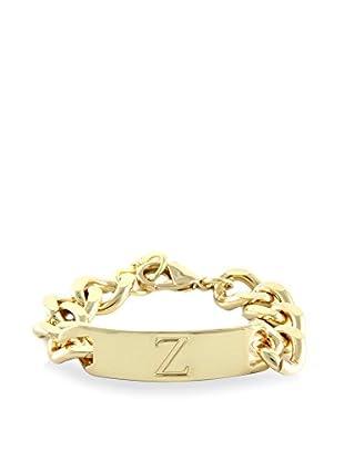 Ettika 18K Gold-Plated Z Initial ID Bracelet